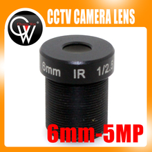 10pcs/lot 5MP IR 6mm lens Fixed Iris M12 MTV IR Board CCTV Lens for Security IP Camera Free Shipping