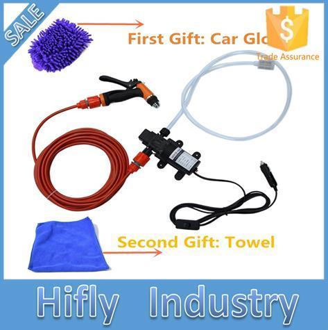 O Envio gratuito de 70 W de Alta Pressão Self-priming da Bomba De Água 12 V máquina de Lavar Carro máquina de Lavar Carro Elétrico Máquina de Lavar Roupa cigarro Mais Leve