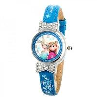 Cartoon Children Watches Girls Digital Quartz Watch Top Brand Frozen PU Leather Watchband Fashion Relogio Feminino