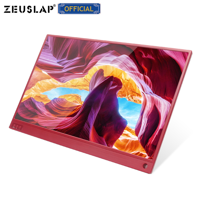 15.6-inch Touching Portable Monitor 1920x1080 FHD HDR IPS Display Gaming Monitor with Leather Case 3