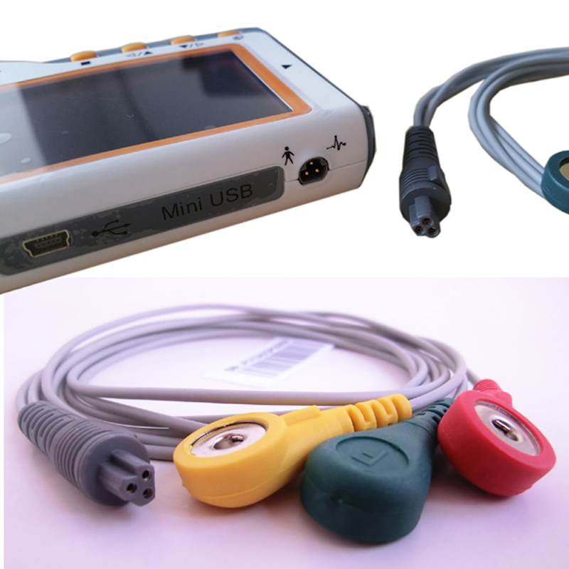 CE FDA Approved Heal Force Prince 180B Portable Household Heart Ecg Monitor Continuous Measuring Color Screen