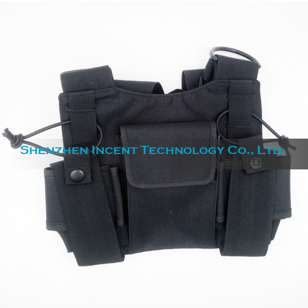 Voionair 2 Pcs Nylon Adjustable Hands-free Two Way Radio Pouch Chest Front Pack Communication Equipments Telecom Parts