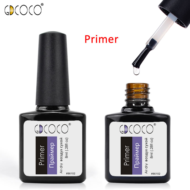 #86102 GDCOCO 2018 New Arrival Primer Gel Varnish Soak Off UV LED Gel Nail Polish Base Coat No Wipe Top Color Gel Polish simd 196 colors nail gel polish primer gel nail polish led uv gel varnish base top coat nail lacquer gel polish