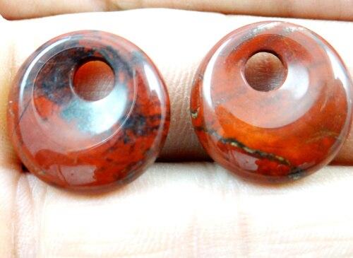 18mm pierre naturelle Turquoise opale Quartz cristal beignet perles breloque pendentif pour bijoux à bricoler soi-même faisant collier Accessories12pcs