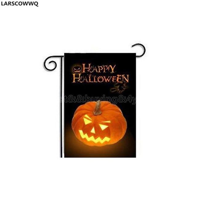 LARSCOWWQ 30 * 45CM Halloween Garden Flag Halloween Garden Flag House  Decor06