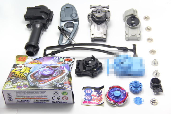 Cosmic Pegasus / Big Bang Pegasis F:D Metal Fury Beyblade BB105 + 4Pcs Different Launcher + 1 Hand + 1 Hook + 6 Meta Tip