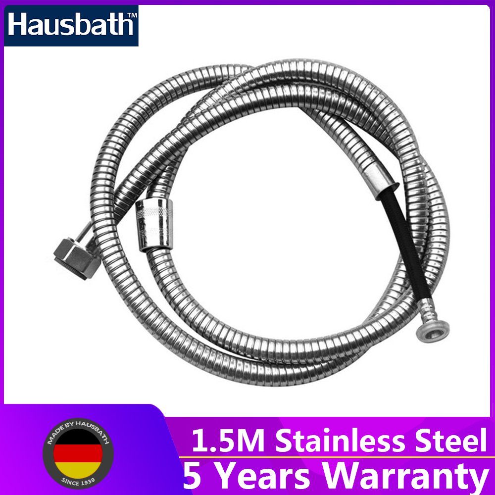 1.5M Shower Hose Plumbing Pipe Water Hose Stainless Steel Anti-Twist Flexible Double Interlocked Bathroom Accessories stainless steel contemporary style shower water hose silver 1 5m