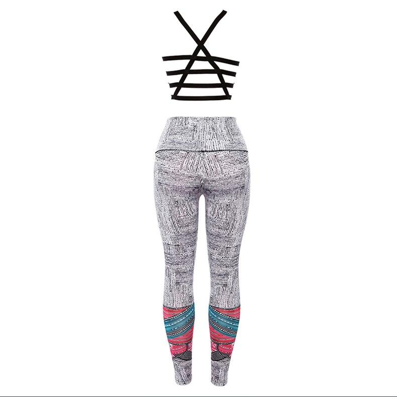 Спортивная одежда для йоги штаны для фитнеса женские's цифровая печать Йога костюм для фитнеса спортивная одежда