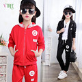 New Autumn Girls Clothing Sets Cardigan Hoody Pants Girls Sport Suit Kids Children Teenage Clothes 8 10 12 Years Girls Clothing