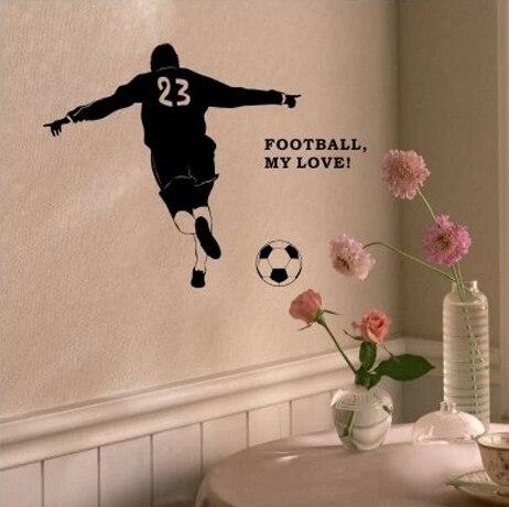 4d320af8a الجدار الفينيل ملصقا لكرة القدم البرازيل لكرة القدم لاعب الرياضة الفتيان  جدارية جدار الفن صائق الديكور ديكور المنزل غرفة نوم وغرفة جلوس