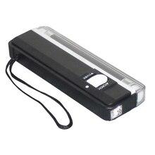 2 в 1 ручной УФ светодиодный светильник фонарь лампа полезный детектор поддельный детектор денег