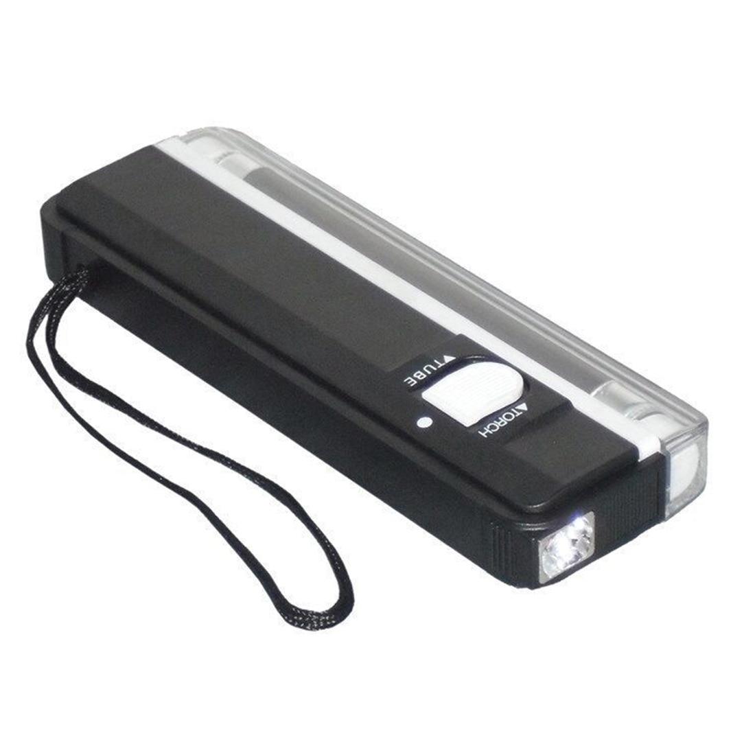 2 in 1 Detector Money Portable Checker UV Handheld Purple Light Tester Torch