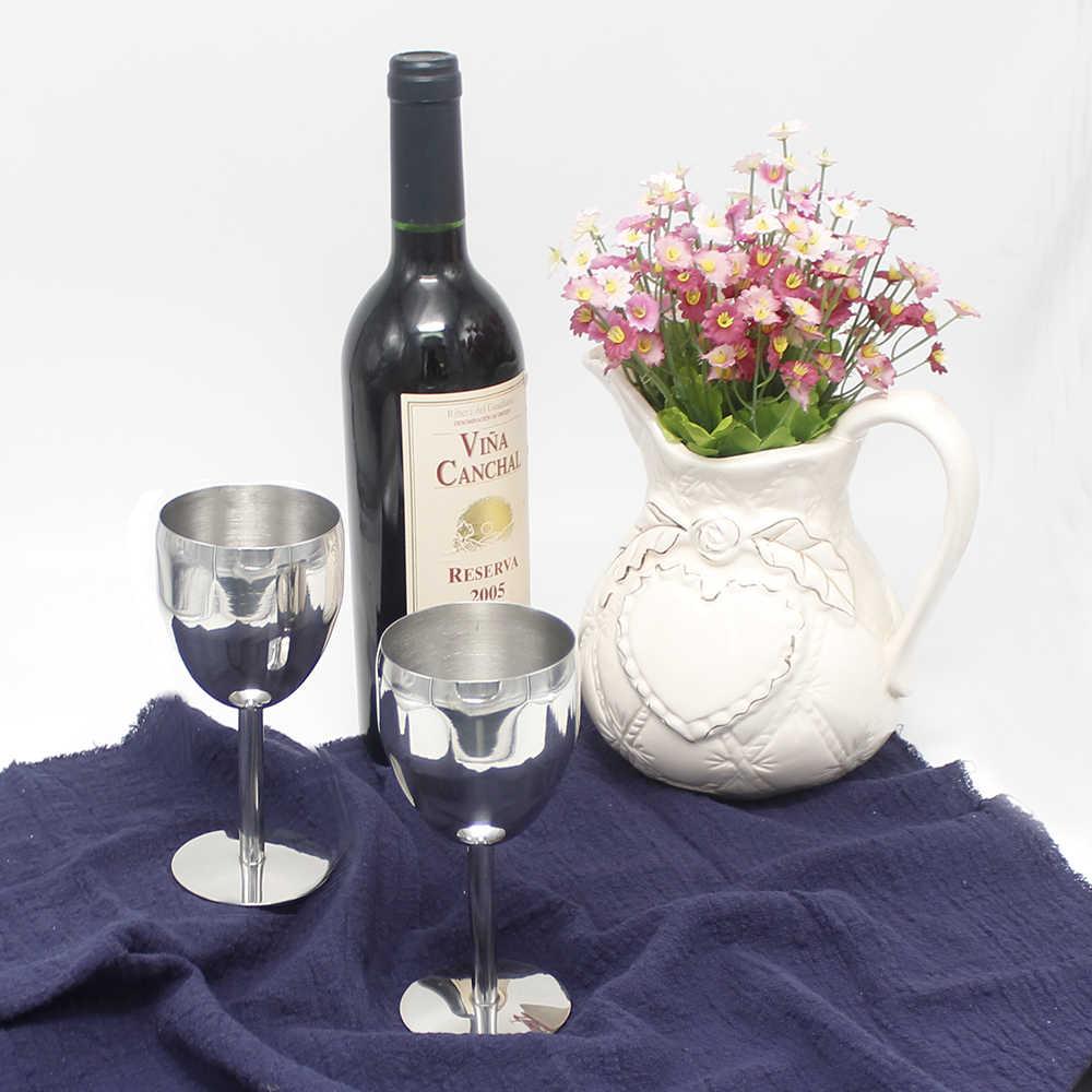 2 قطعة/المجموعة 304 (18/8) الأحمر نظارات شرب الويسكي الفودكا النبيذ الشمبانيا البيرة القدح القدح للحزب شريط كوب الزفاف