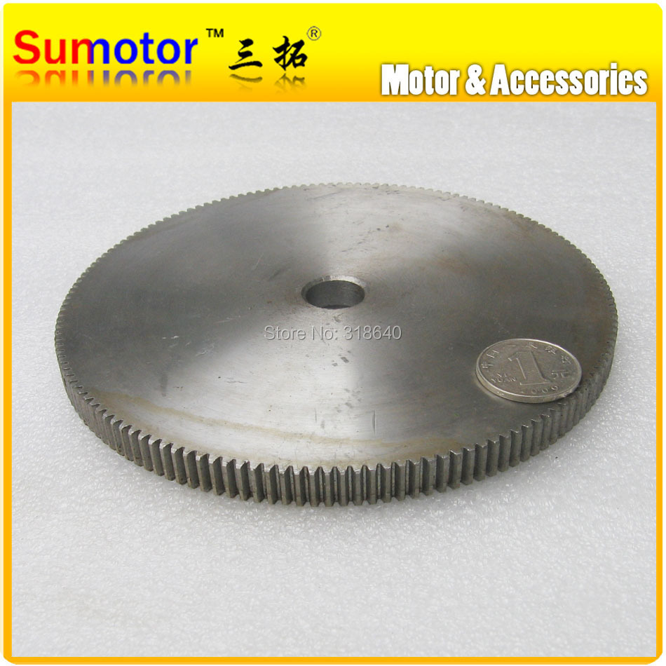 Spur Gear 1M 150T 150Teeth Mod 1 Width 10mm Bore 12mm Right Teeth 45# steel positive gear CNC gear rack transmission motor gear bevel gear a pair 20t 1 5 mod m modulus ratio 1 1 bore 8mm 45 steel right angle transmission parts