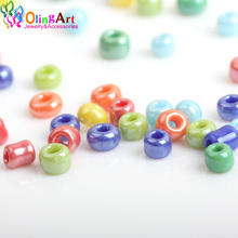 720pcs lot 2mm austria opaque round hole glass bead solid color czech glass seed spacer diy beads for kids jewelry making decor 2MM Glass Seed Beads Opaque Colors Lustered mixed multicolor Round apx 1500pcs/bag Spacer bead DIY Jewelry Making Free Shipping
