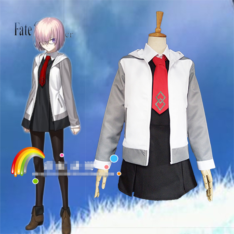 Mash Kyrielight Fate/Grand Order Cosplay mash cosplay costume daily suit Jacket skirt tie costuem made 1