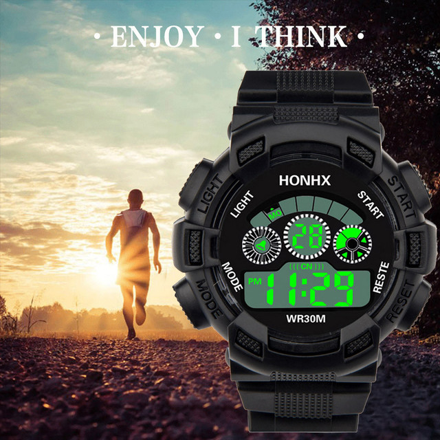 Fashion Mens Digital LED Analog Quartz Alarm Date Sports Wrist Watch Relogio Masculino Erkek Kol Saati Watch Men