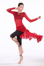 2016 Real Belly Dance Costume New Training Belly Dance Clothes Women Ballroom Dress Long Sleeve With Leggings Swallow Tail Skirt