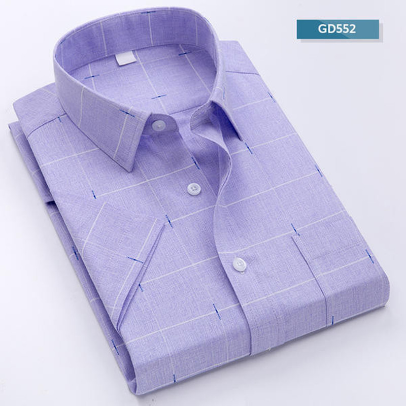 Charitable Plaid Shirt Men 2019 New Summer Chemise Homme Business Mens Dress Shirts Short Sleeve Shirt Men Blouse Plus Size 5xl 6xl 7xl 8xl In Short Supply Shirts Casual Shirts