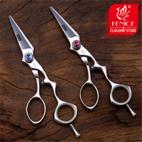 Fenice Brand Barber Scissors Hair Professional Hairdressing scissors for Haircut Salon Shears Berber Japan 440C ciseau coiffure