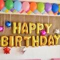 Color al azar membrana de papel de aluminio Feliz cumpleaños Plata/Oro fijaron globos de fiesta. globos carta