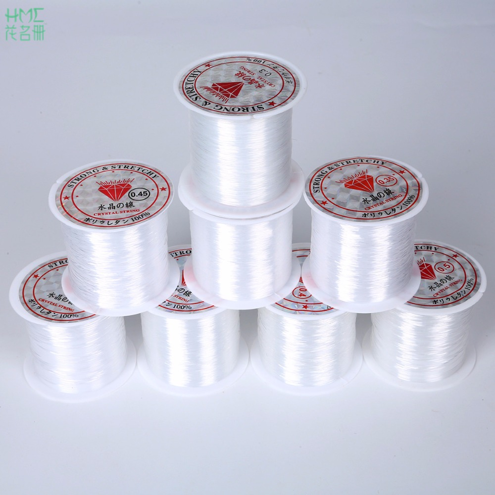 0.2/0.25/0.3/0.35/0.4/0.45/0.5/0.6mm 20-100m Transparent Non-Stretch Fish Line Wire Nylon String Beading For Making Necklace DIY