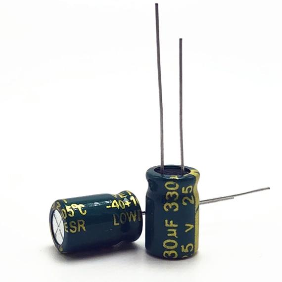 10pcs 330uF 25V SAMWHA RS 10x20mm 25V330uF Aluminum Electrolytic Capacitor