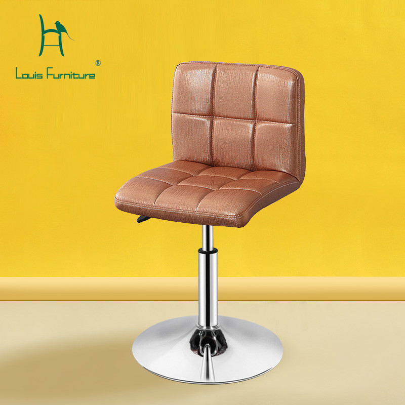 European Unique Design Simple Fashion Pu Backrest Bar Chair Lifting Stool Bar Height Adjustable Free Shipping And Digestion Helping Bar Furniture Bar Chairs