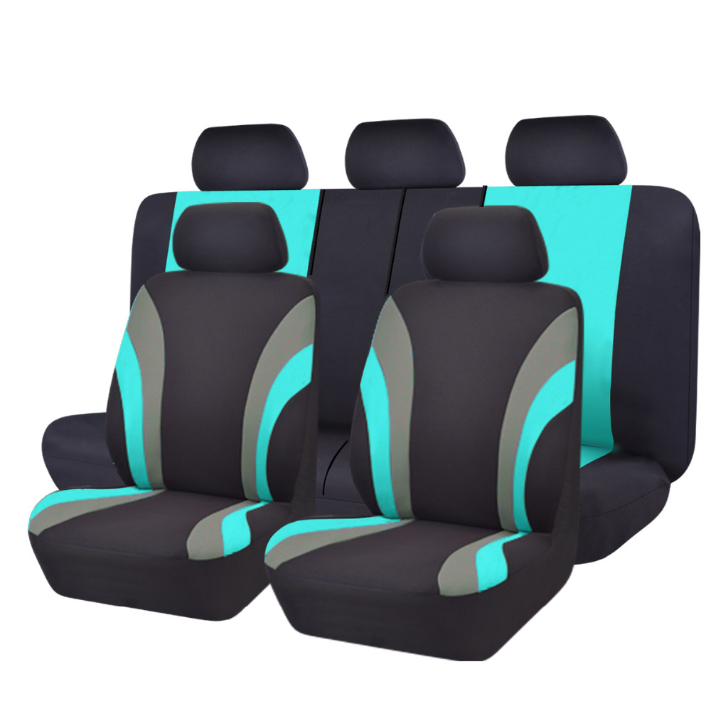 Car-pass Car Seat Covers Mesh Fabric Green Color Full Seat Universal Car Seat Cover with Car Steering Wheel Cover fit lada ford цена