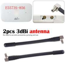 2pcs/lot WiFi 3G 4G antenna TS9 Wireless Router Antenna for Huawei E5573 E8372 for PCI Card USB Wireless Router(China)