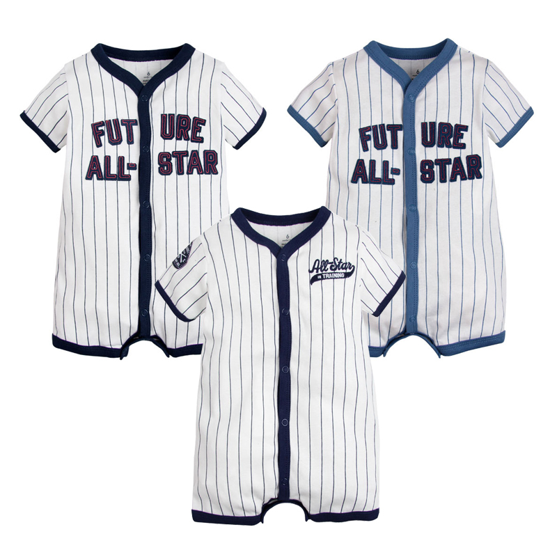 Summer Baby Clothes Boys Rompers Newborn Children Clothes Ropa Bebe Jumpsuit Cotton Sports Baseball Rompers Outfits Baby Clothes