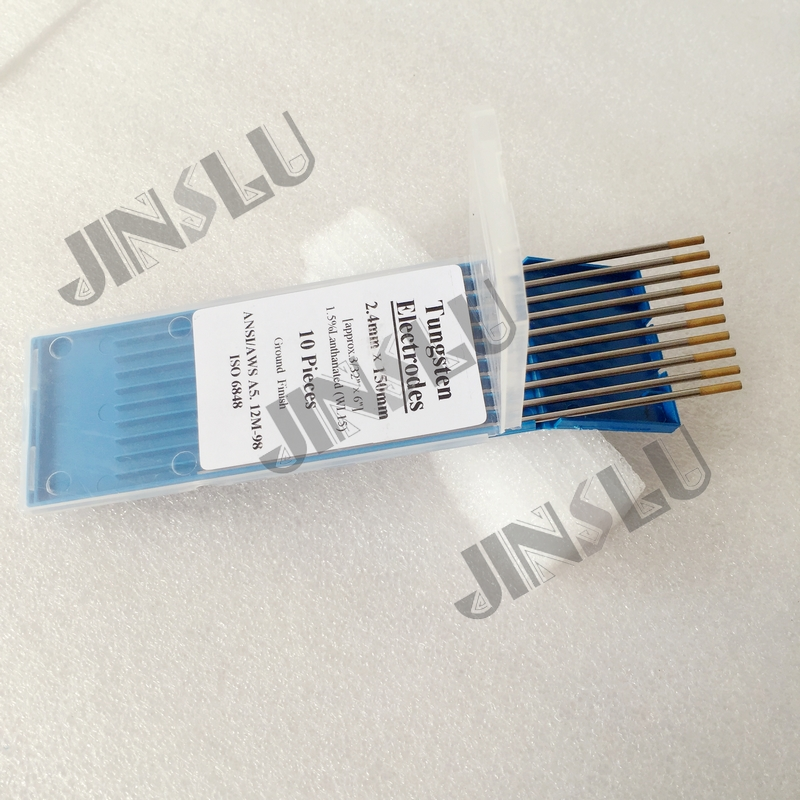 Tip 10PCS Shipping Tungsten  Electrode 32inchx6 WL15  Welding 1 Free Gold TIG 2 5percent Lanthanated 3 4mmx150mm