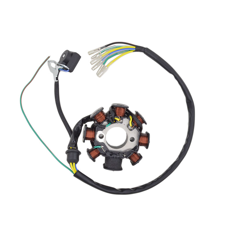 Motorcycle 6 Wire 8 Poles Magneto Stator Coil Generator