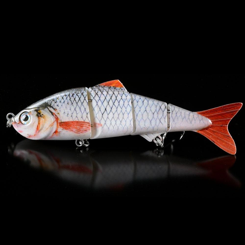 3D Eyes  Multi Jointed Bass Fishing Lure Lifelike 4 Sections Swimbait Crankbait Hard Bait Fish Lure Fishing Tackle 6# Hooks fishing lure blank crankbait unpainted hard bait 4cm 4 2g fishing tackle upc703p10