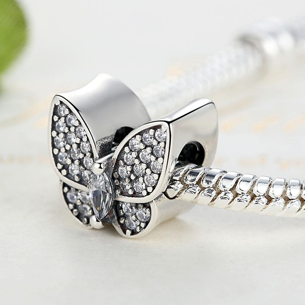 ELESHE Fit Original Pandora Charms Armband 925 Sterling Silver CZ - Märkessmycken - Foto 4