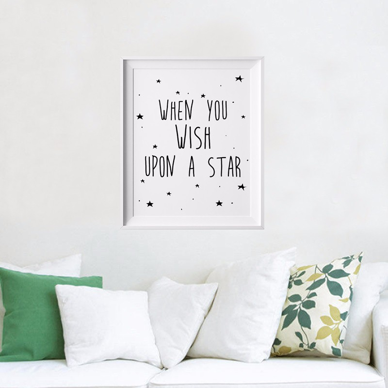 Stars Quotes Kids Poster, Nursery Print Art, Wall Picture Oil Painting Canvas  Art Prints Nursery Art, Baby Room Decor No Frame In Painting U0026 Calligraphy  ...