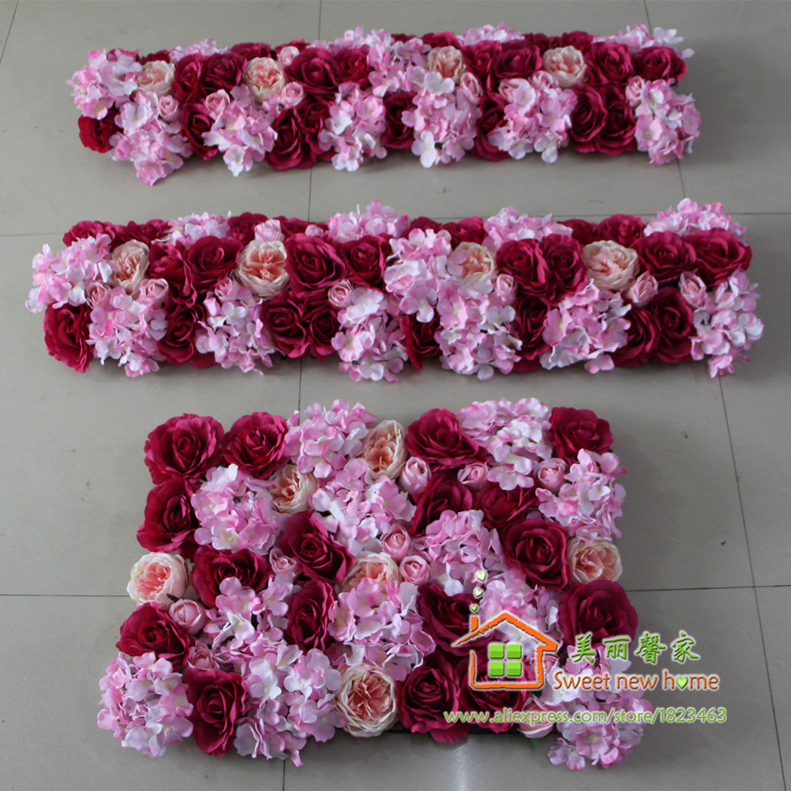 Compare prices on silk flower centerpieces for tables online sweet new home artificial silk flower wall wedding background arch flower row road lead flower table dhlflorist Gallery