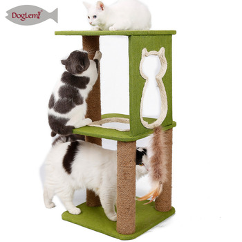 "Cat Scratching Tree Wood Furniture Cat Furniture Nature Home Decoration ""Gui Lin"" Sisal Fiber"