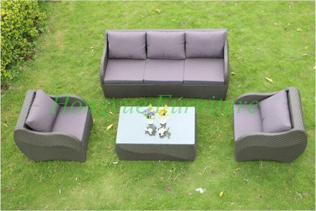 2016 últimos diseños de muebles de ratán conjunto de sofás 2 + 3 + 1 proveedor