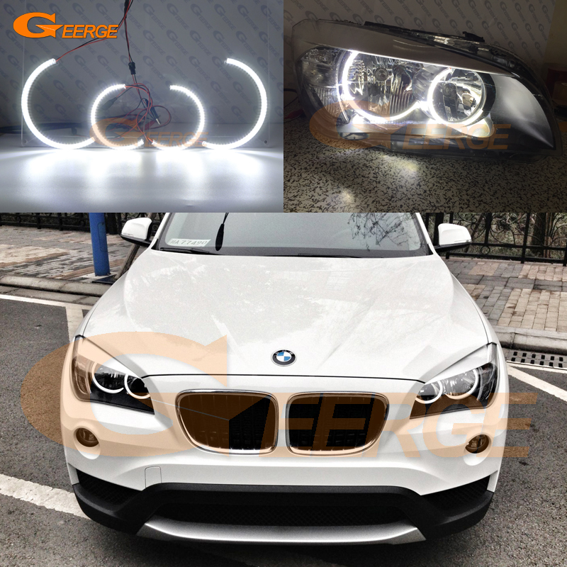 For BMW X1 E84 2010 2011 Non Projector Excellent Led Angel Eyes Ultrabright Illumination Smd Led