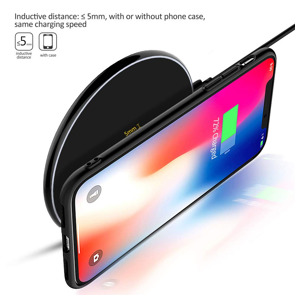 Image 2 - NTONPOWER 10W Fast Wireless Charger For iPhone X 8 XS Max XR Qi Wireless Charger for Samsung S8 S9 Plus USB Phone Charger Pad-in Mobile Phone Chargers from Cellphones & Telecommunications