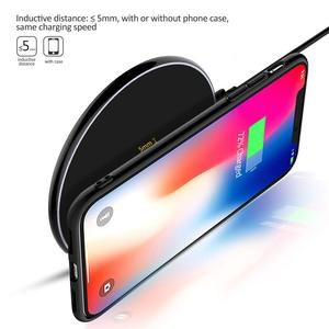 Image 2 - NTONPOWER 10W Fast Wireless Charger For iPhone X 8 XS Max XR Qi Wireless Charger for Samsung S8 S9 Plus USB Phone Charger Pad