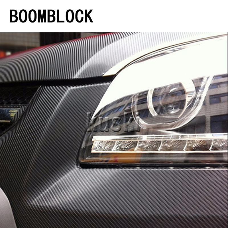 BOOMBLOCK 30*127cm Car Styling Carbon Fiber Sticker For Toyota corolla avensis VW polo passat b5 b6 b7 golf 4 7 <font><b>5</b></font> t5 Accessories image