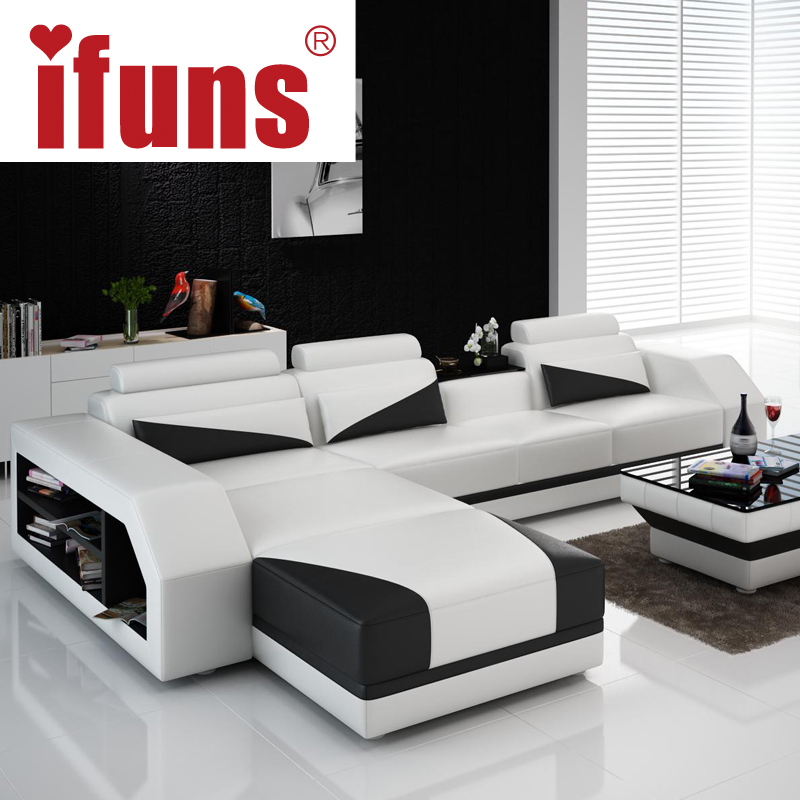 White Corner Sofas Promotion Shop for Promotional White  : IFUNS Custom made classic italian Leather font b sofa b font L shaped designs heated seat from www.aliexpress.com size 800 x 800 jpeg 299kB
