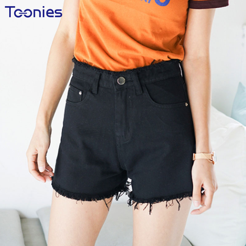 Fashion Stylish Loose womens Denim Short Straight Hight Waist All Match Womens Jeans Shorts 2018 Summer New Plus Size S-5XL