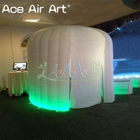 New designed led igloo inflatable dome photo/foto booth,igloo kiosk/party/event tent for sale