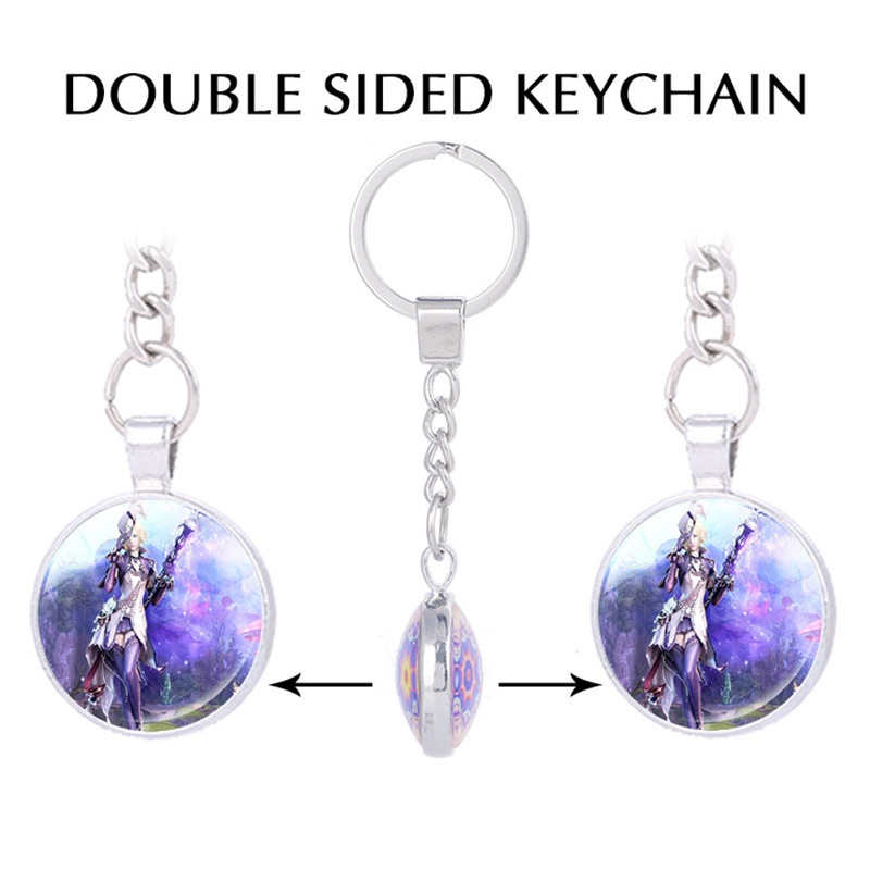 Aion Online Sorcerer Asmodian Key Holder Aion Game Keychain for Keys Kids Gifts Mens Jewelry Motorcycle Keychain, Game Key Ring