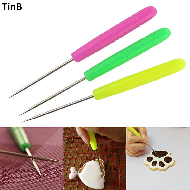 Souarts Needle Cake Tester Baking Tools Stainless Steel Biscuit Icing Needle Baking /&Pastry Tools Scriber Stir Needle 1pcs