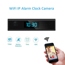 WIFI Clock Camera HD 1080P Night Vision Mini Wireless IP DV Vedio Recording Device Alarm