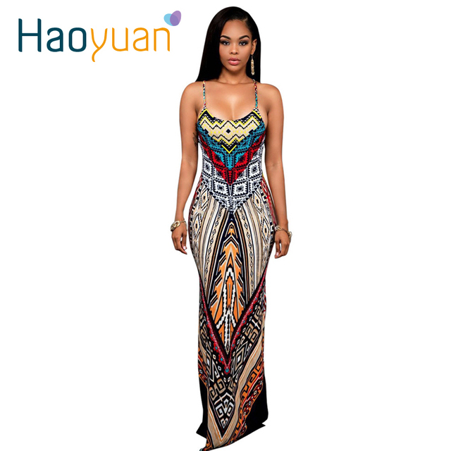 cd3058e6068 Women Summer Maxi Dress Long 2018 Ladies Party Dresses femme Robe Sexy  Sundress Backless Bandage Boho Split Bodycon Dress